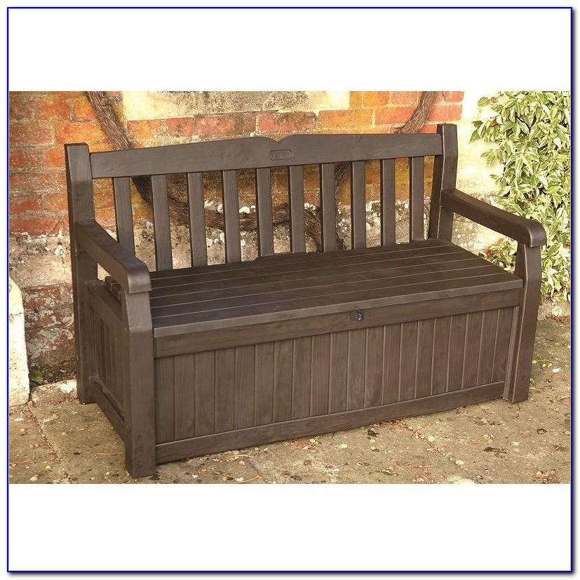 Keter Eden Iceni Waterproof Brown Storage Bench Box