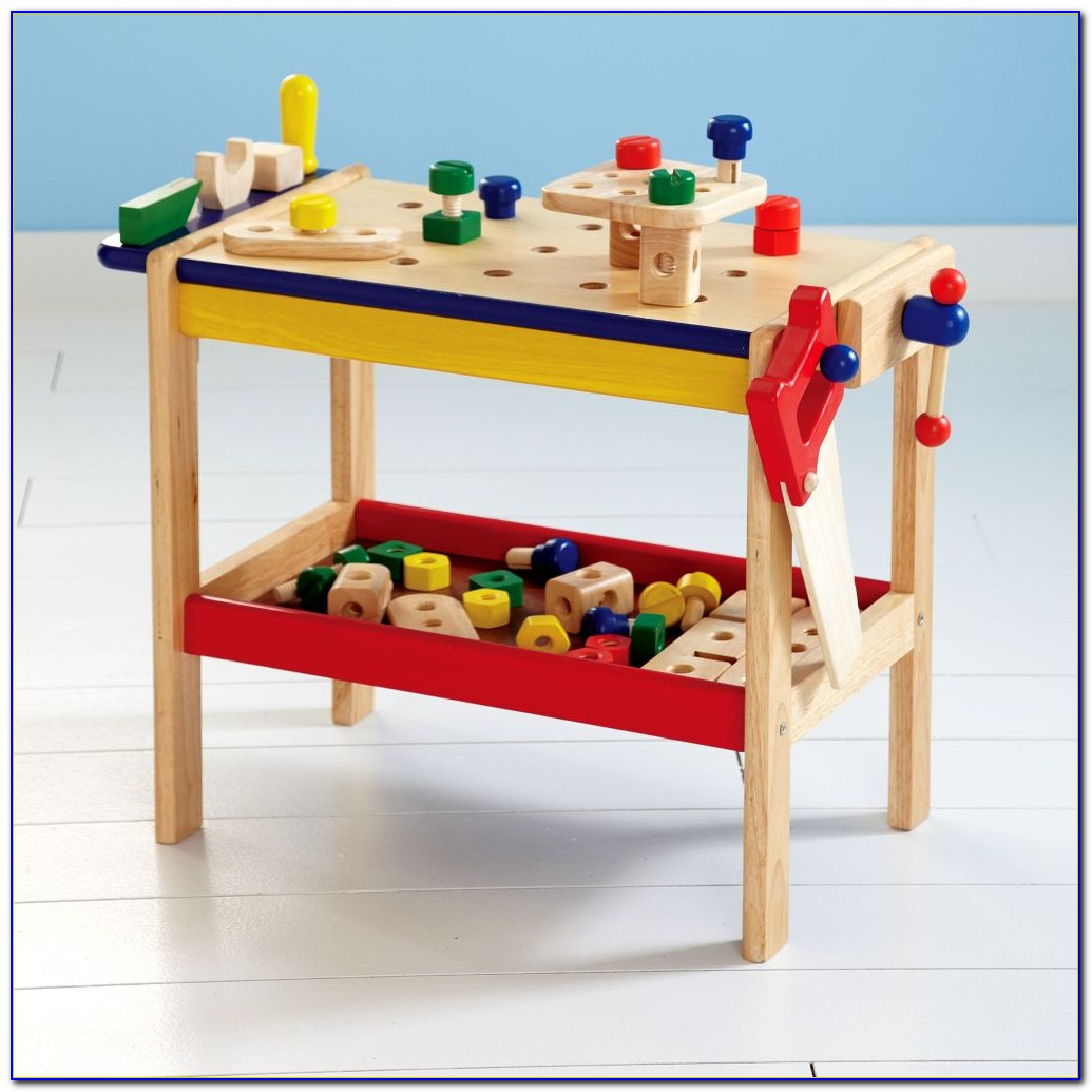 Kids Wooden Tool Bench