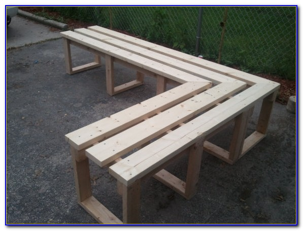 L Shaped Garage Workbench