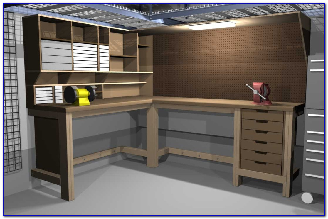 L Shaped Work Benches