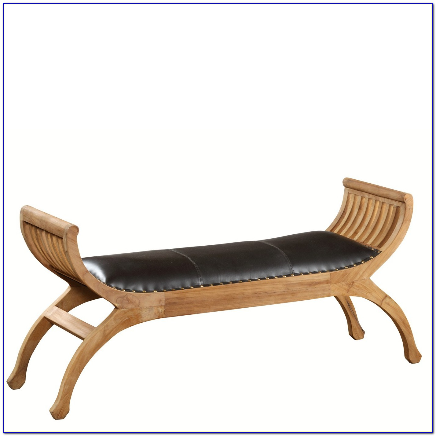 Large Upholstered Bench With Arms