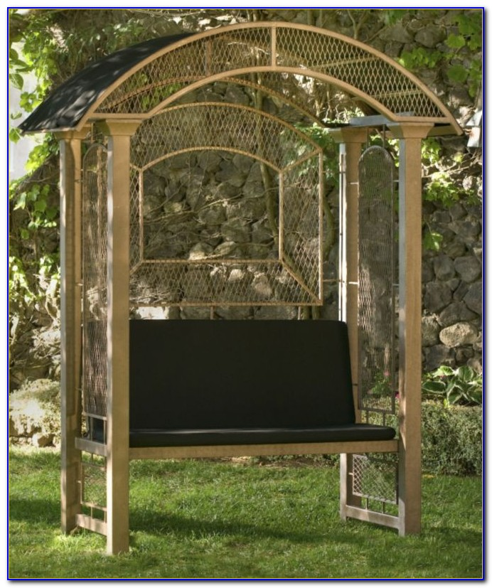 Metal Arbor With Bench