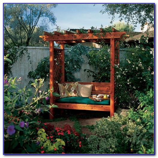 Metal Garden Arbor With Bench