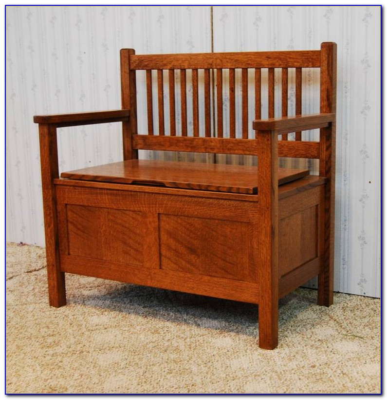 Mission Bench With Storage