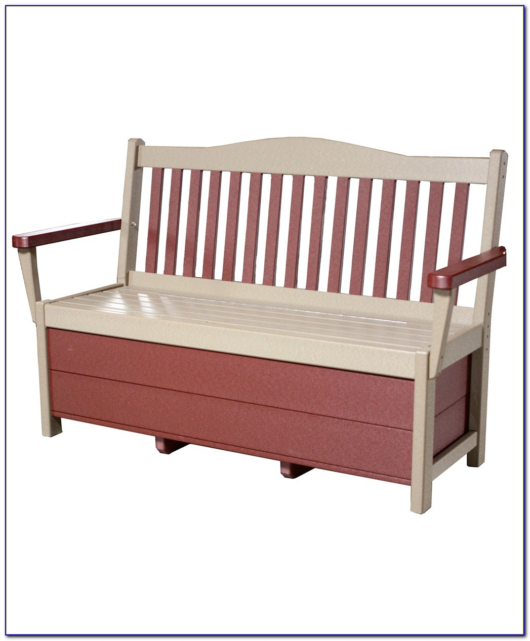 Mission Storage Bench With Baskets