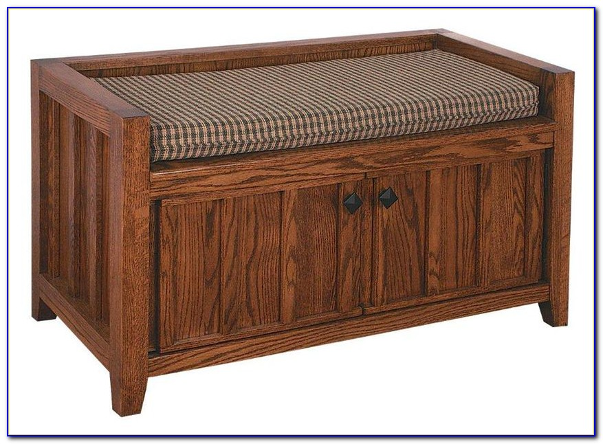 Mission Style Entry Bench With Storage