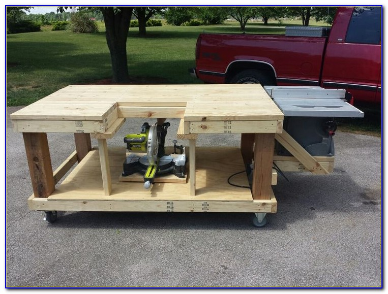 Miter And Table Saw Work Bench