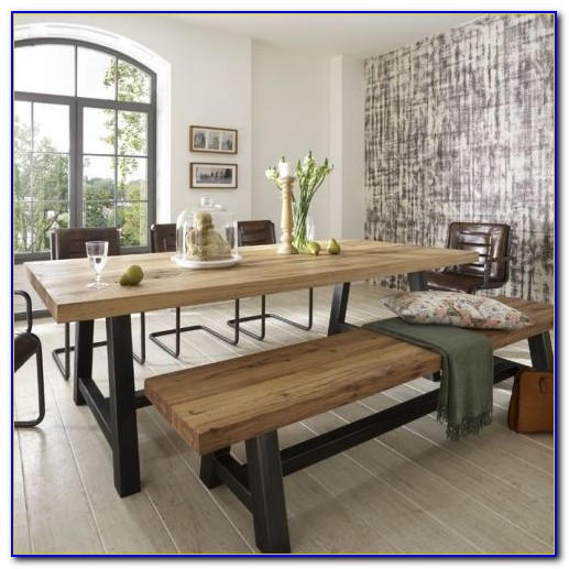 Modern Dining Table With Bench And Chairs