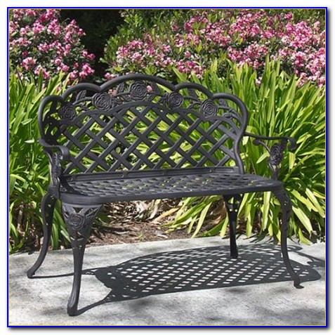New Outdoor Patio Furniture Cast Aluminum Garden Bench