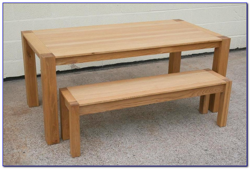 Oak Bench For Dining Table