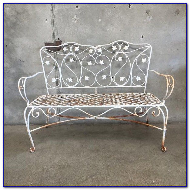 Old Wrought Iron Benches
