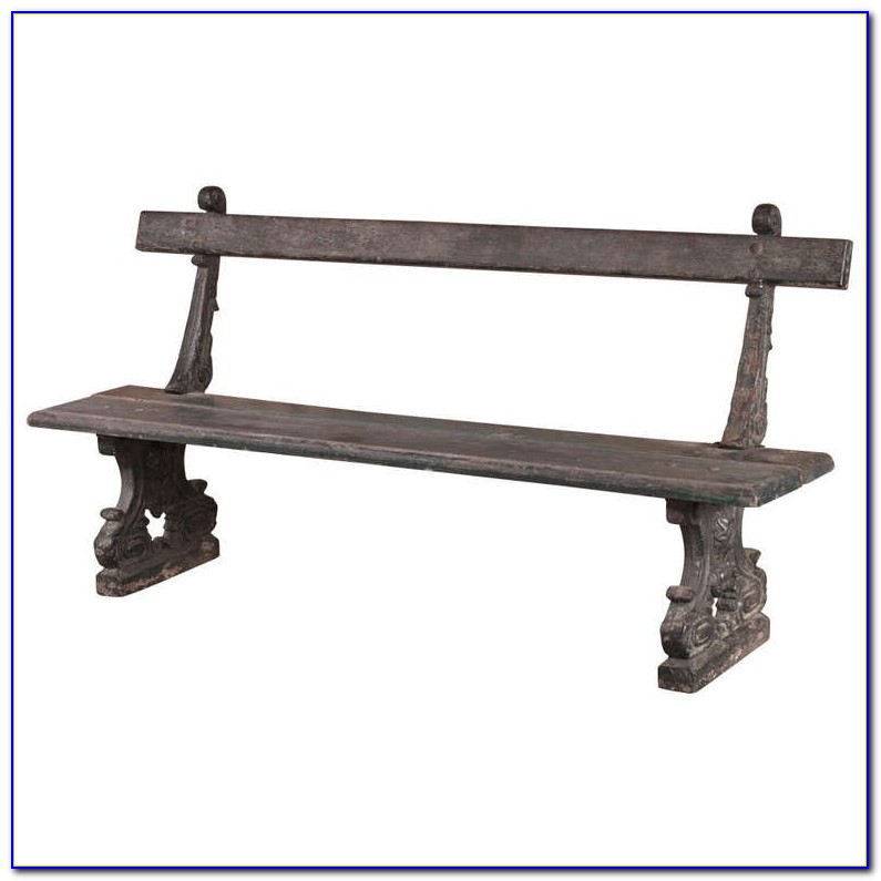Old Wrought Iron Garden Bench