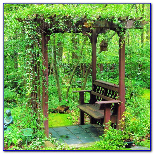 Outdoor Arbor With Bench