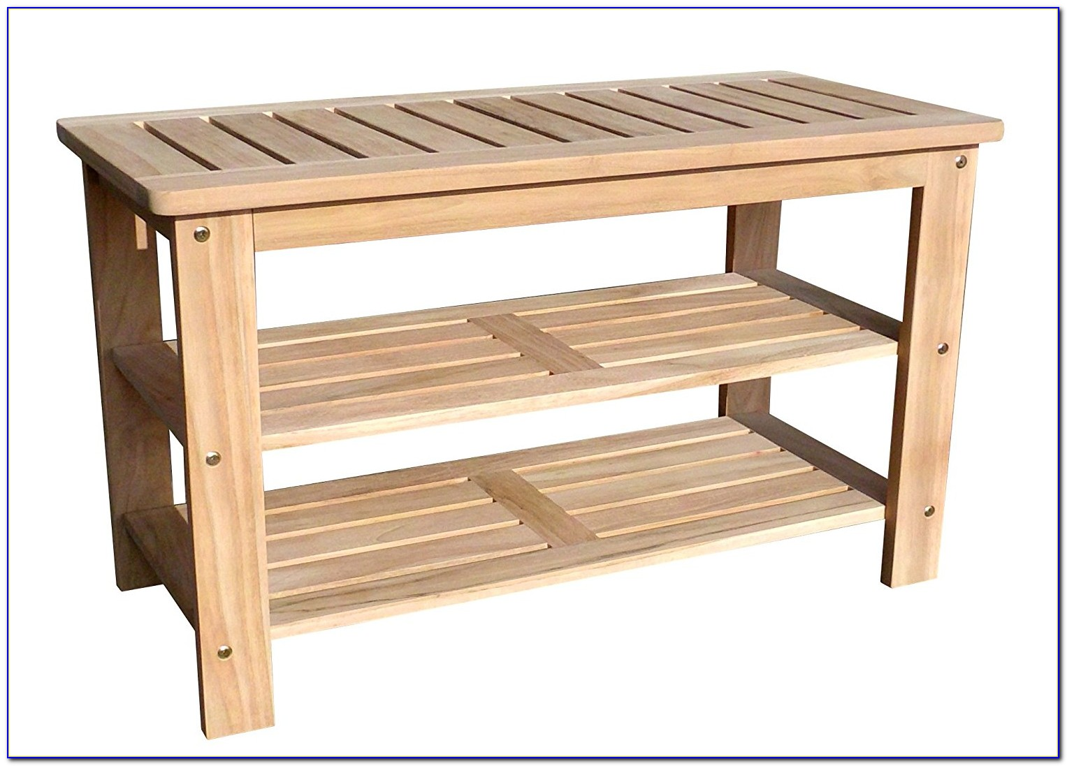 Outdoor Bench With Shoe Rack