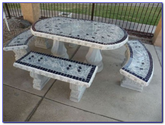 Outdoor Concrete Benches And Tables