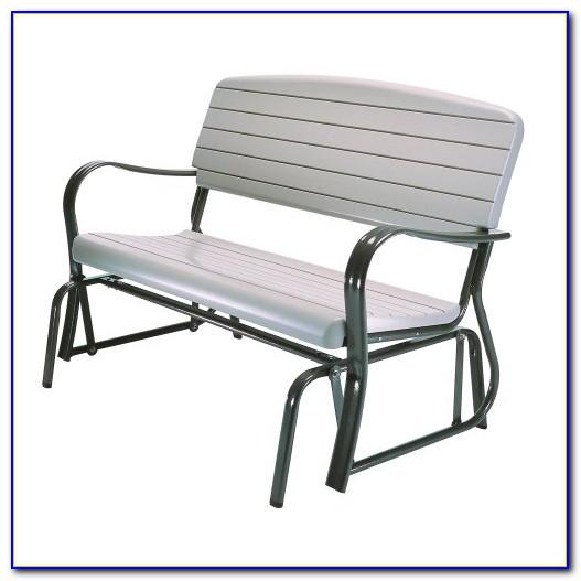 Outdoor Glider Bench Metal