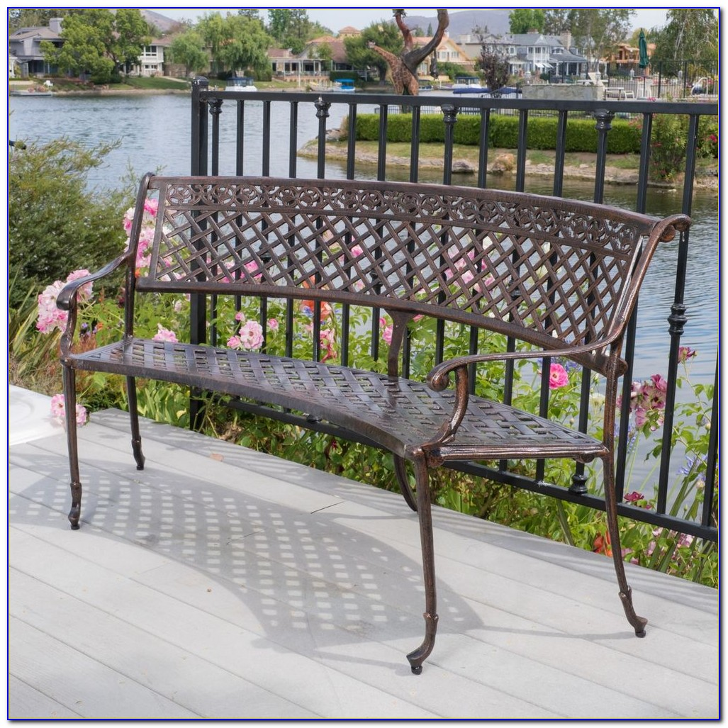 Outdoor Patio Furniture Cast Aluminum Garden Bench