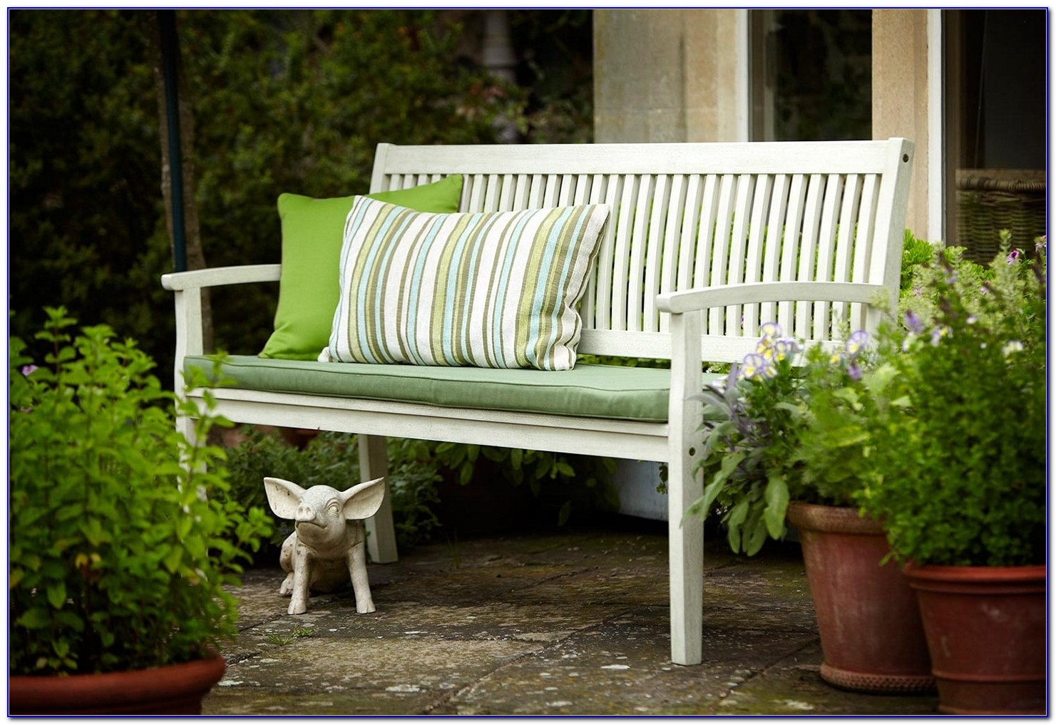 Outdoor Storage Bench With Cushion