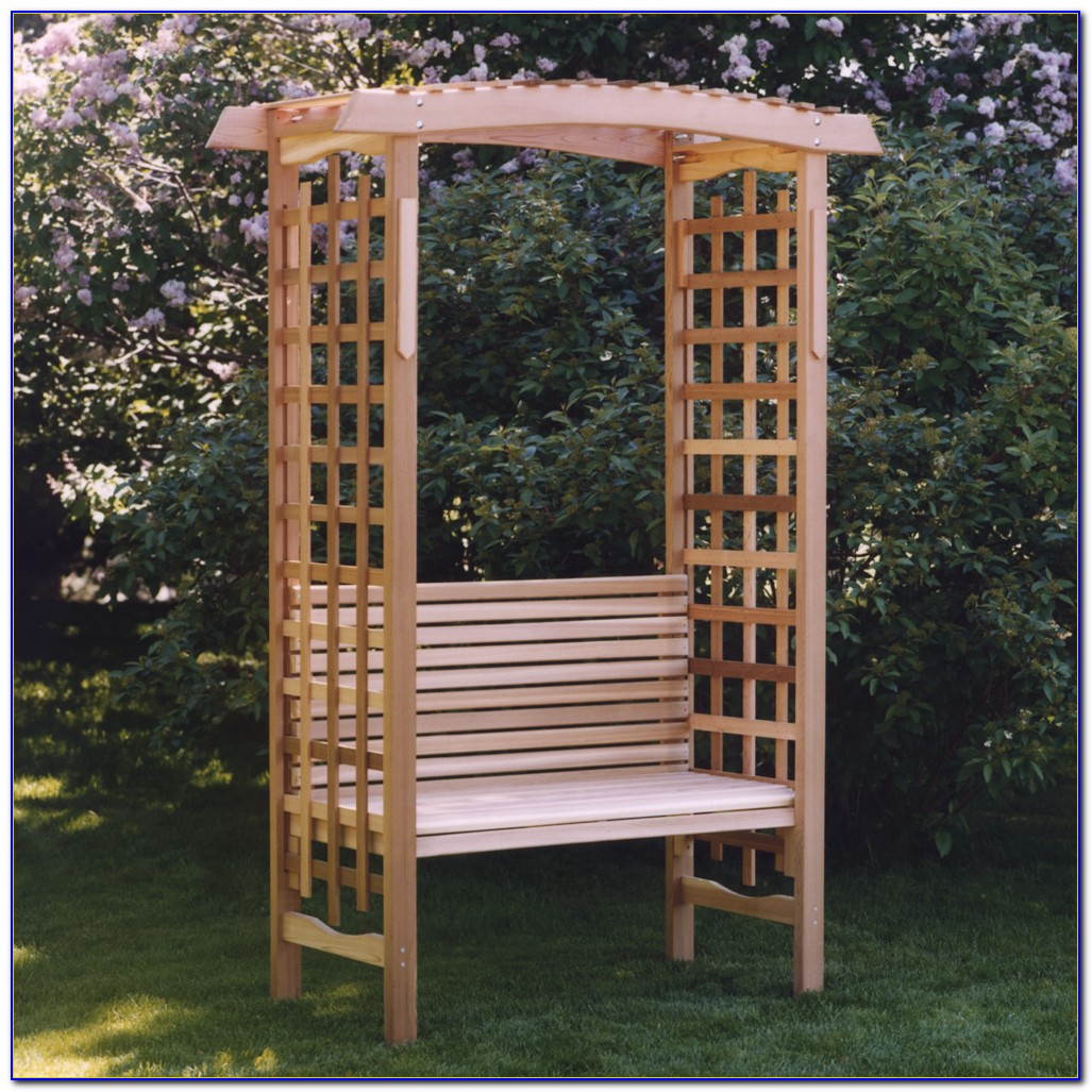 Outdoor Trellis With Bench