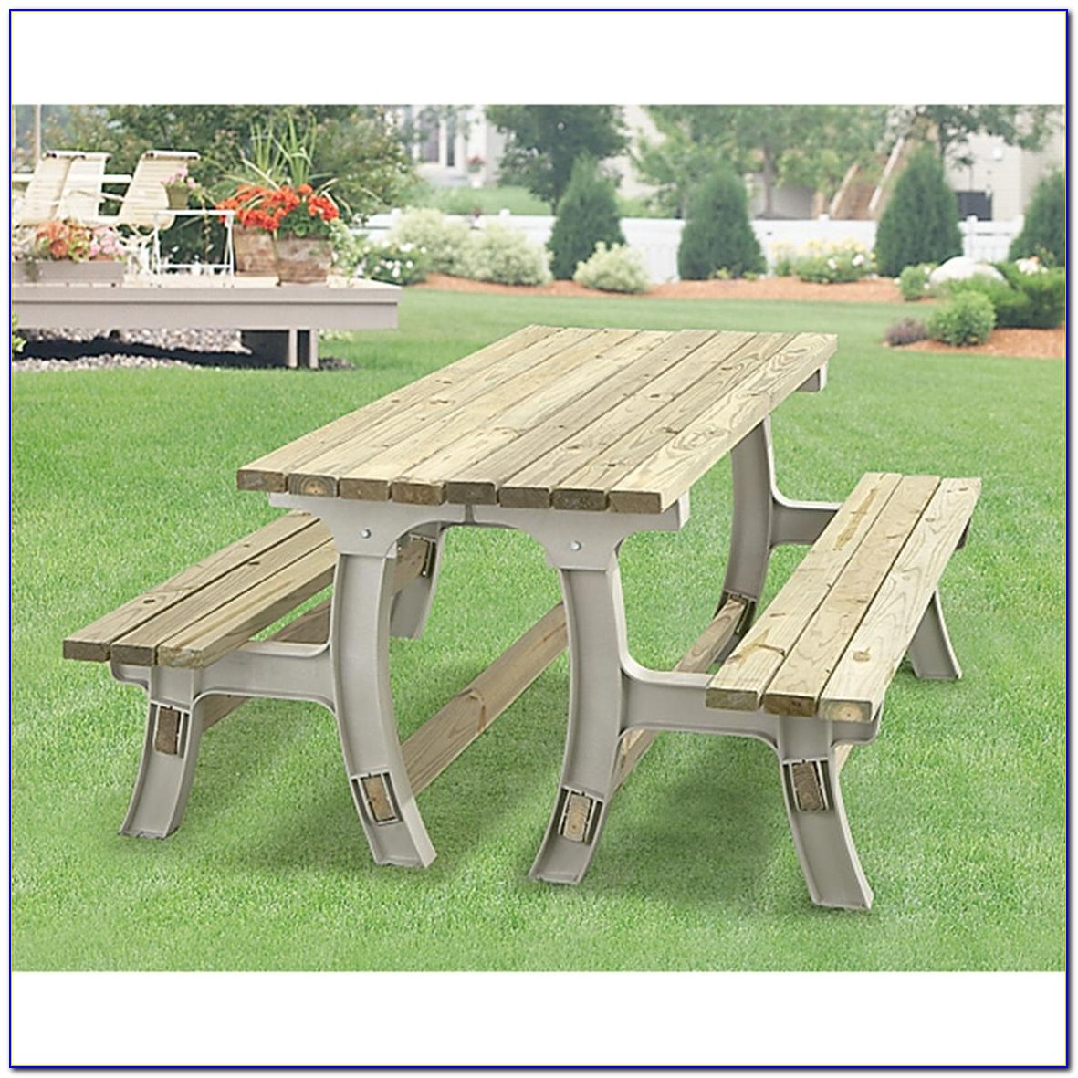 Park Bench That Converts To Picnic Table