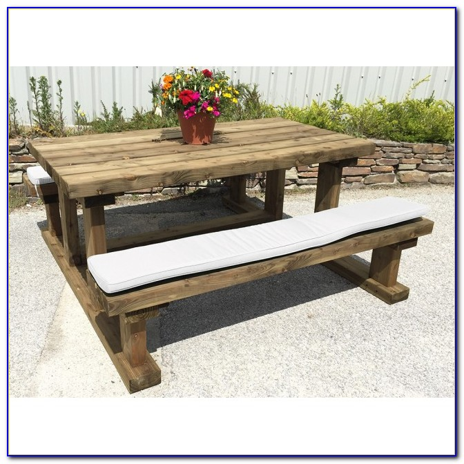 Picnic Table Bench Seat Cushions