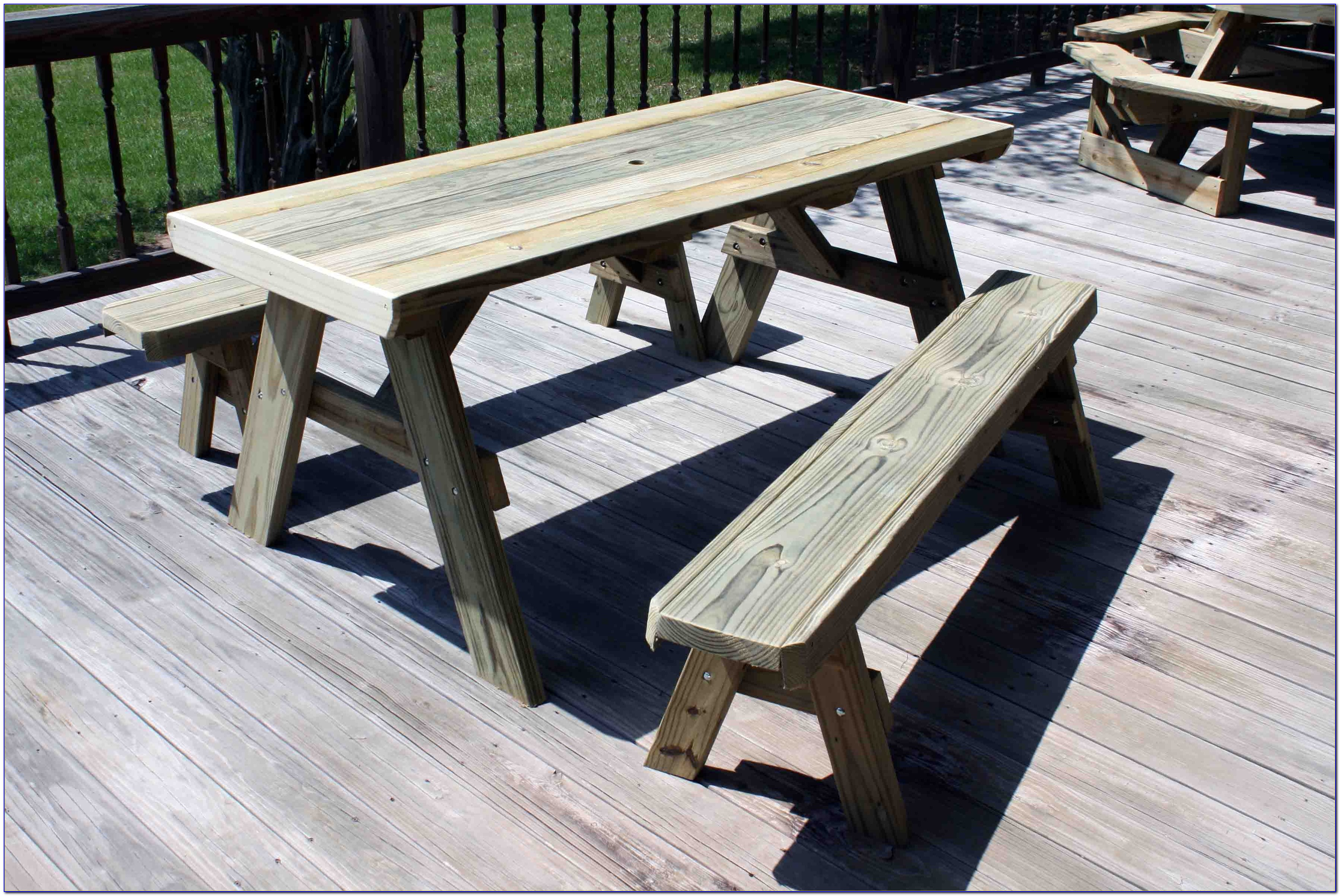Picnic Tables With Separate Benches