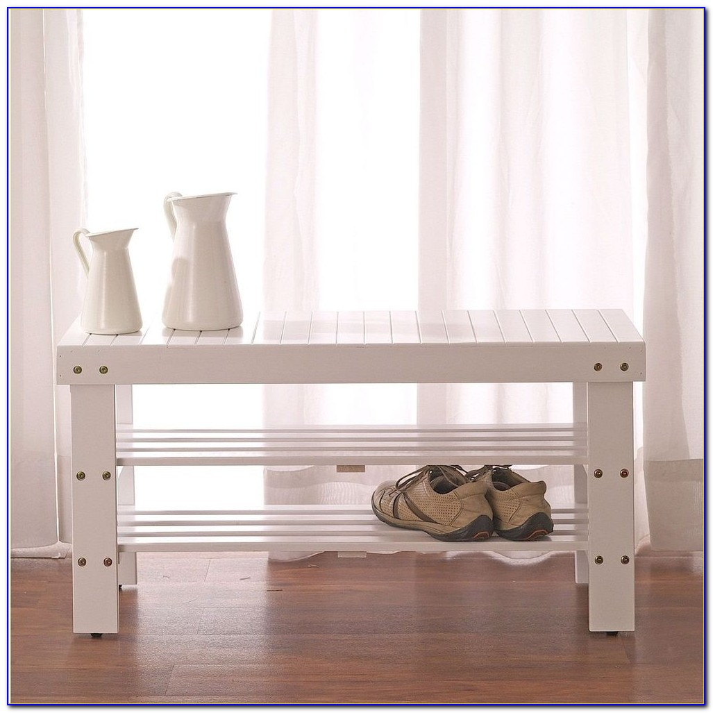 Roundhill Quality Solid Wood Shoe Bench With Storage