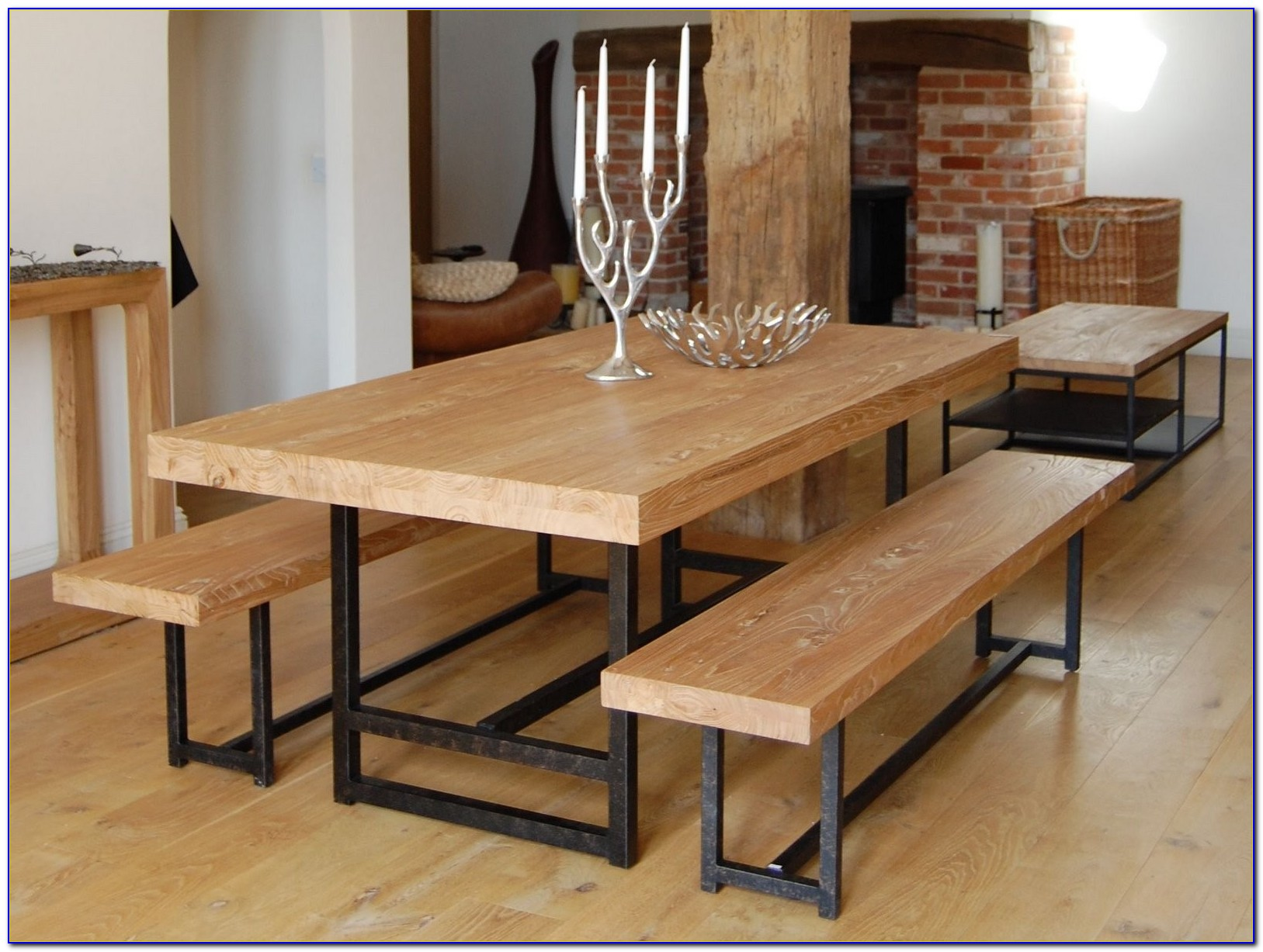 Rustic Benches For Dining Table