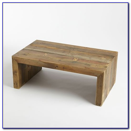 Rustic Wood Bench Coffee Table
