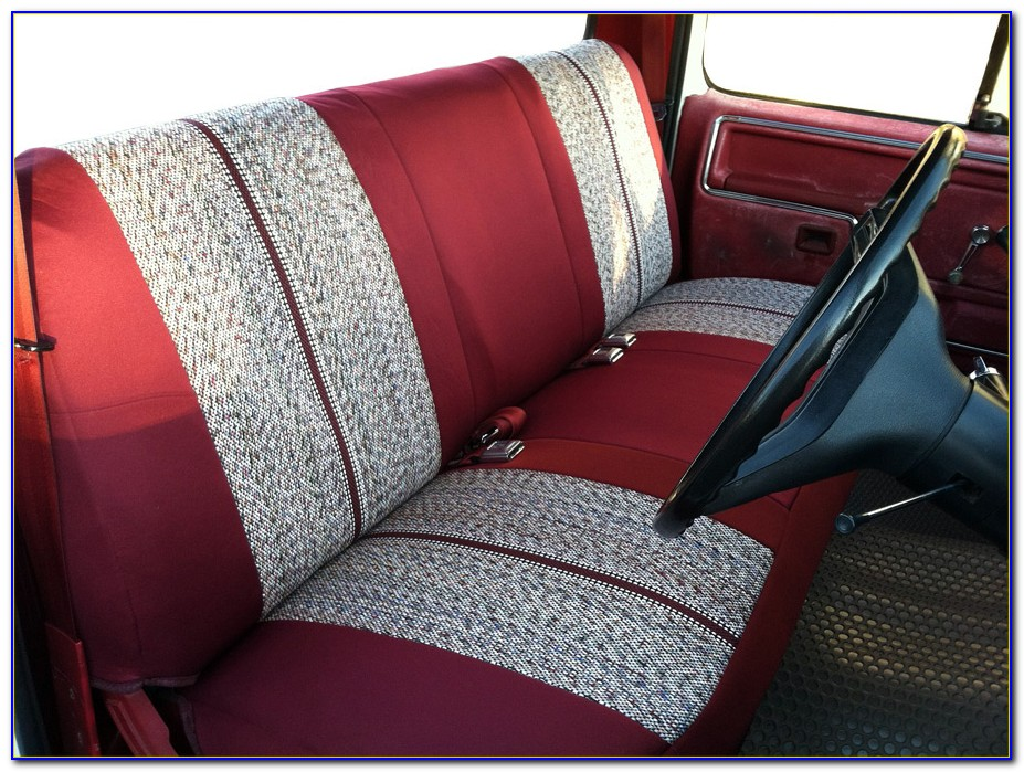 Saddle Blanket Bench Seat Cover With Pockets