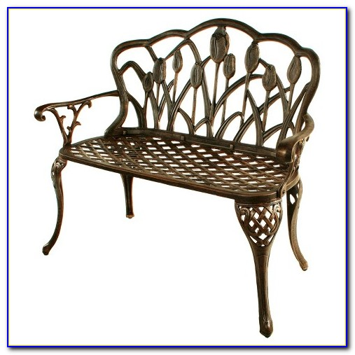 Saint Kitts Cast Aluminum Patio Bench