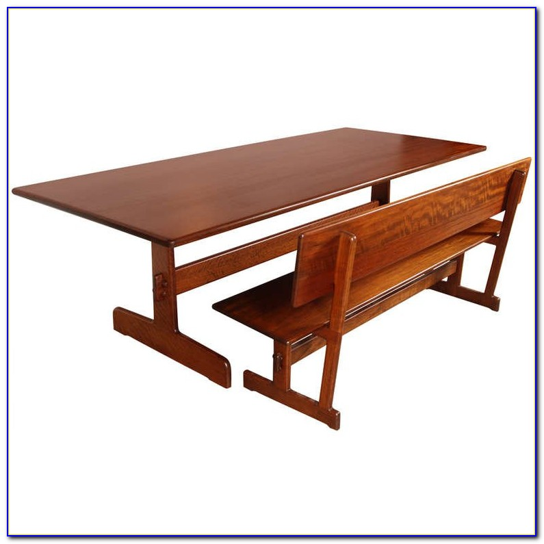 Sauder Beginnings Trestle Dining Table With Benches Cinnamon Cherry