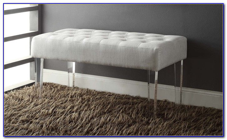 Small Bench With Lucite Legs