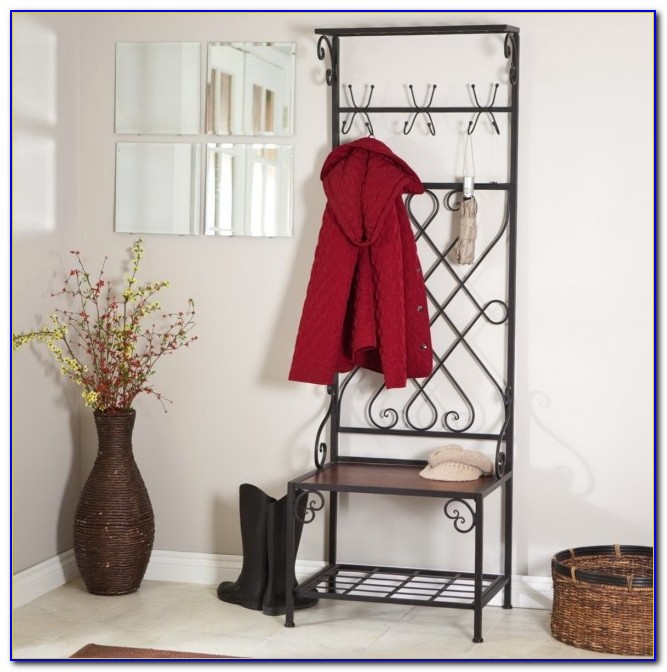 Small Entryway Bench And Coat Rack