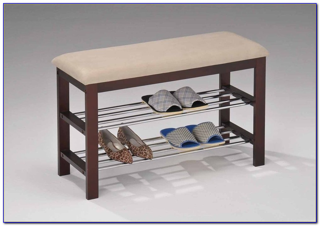 Small Entryway Shoe Storage Bench