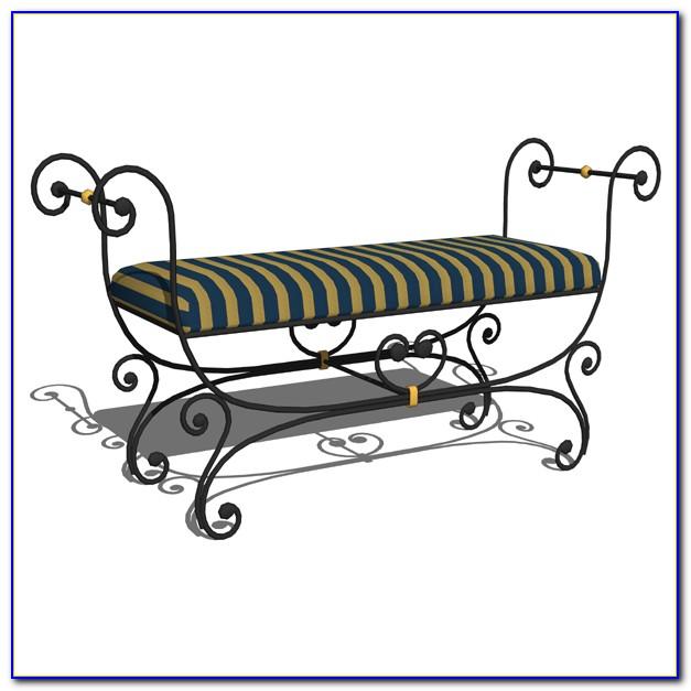 Small Wrought Iron Bench Cushion