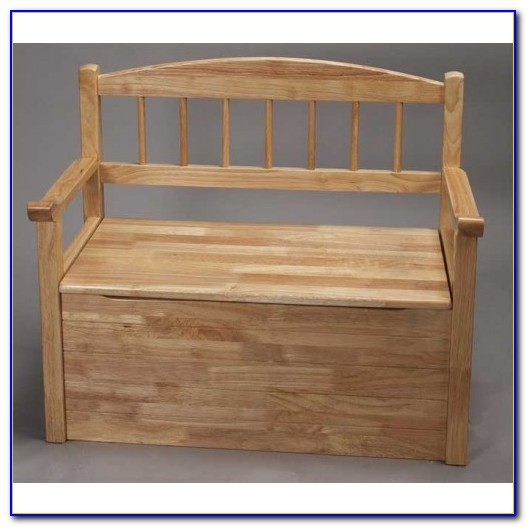 Solid Wood Toy Chest Bench