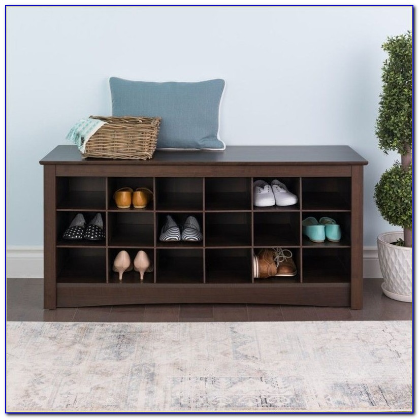 Storage Bench With 3 Cubbies