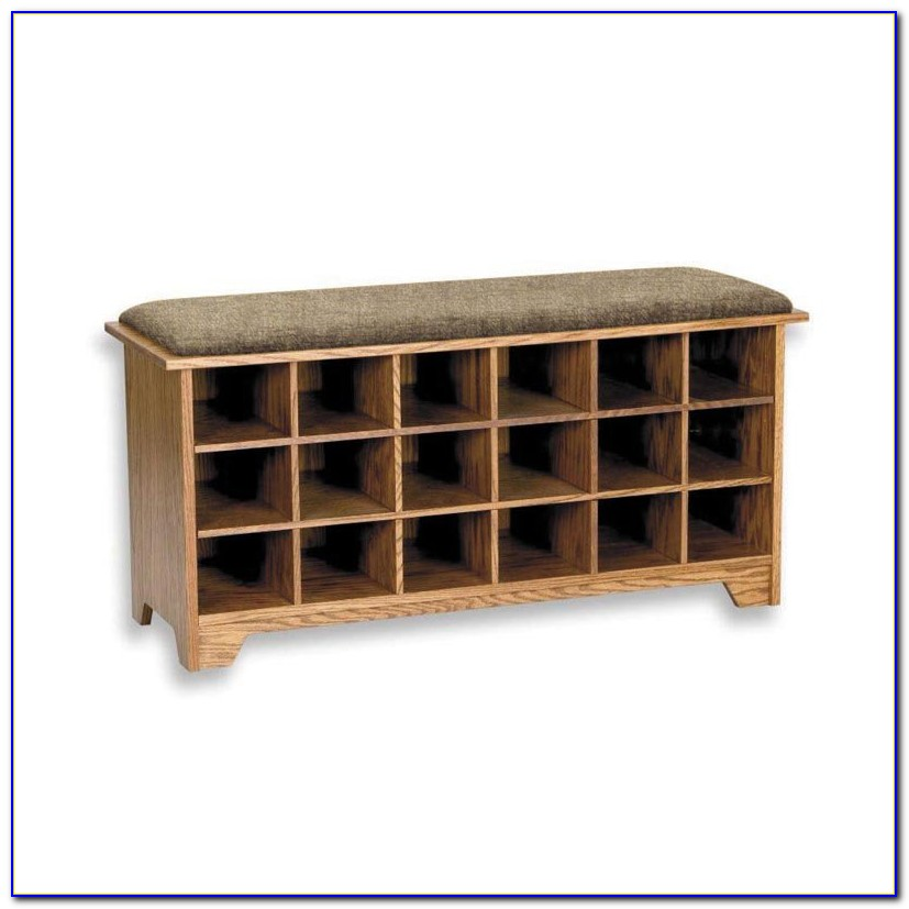 Storage Bench With Cubbies And Drawers