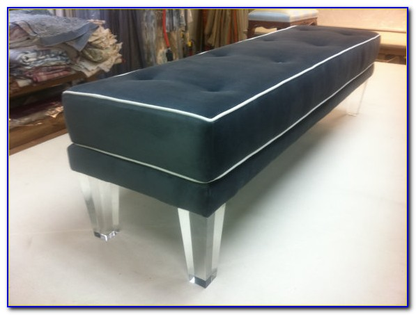 Storage Bench With Lucite Legs