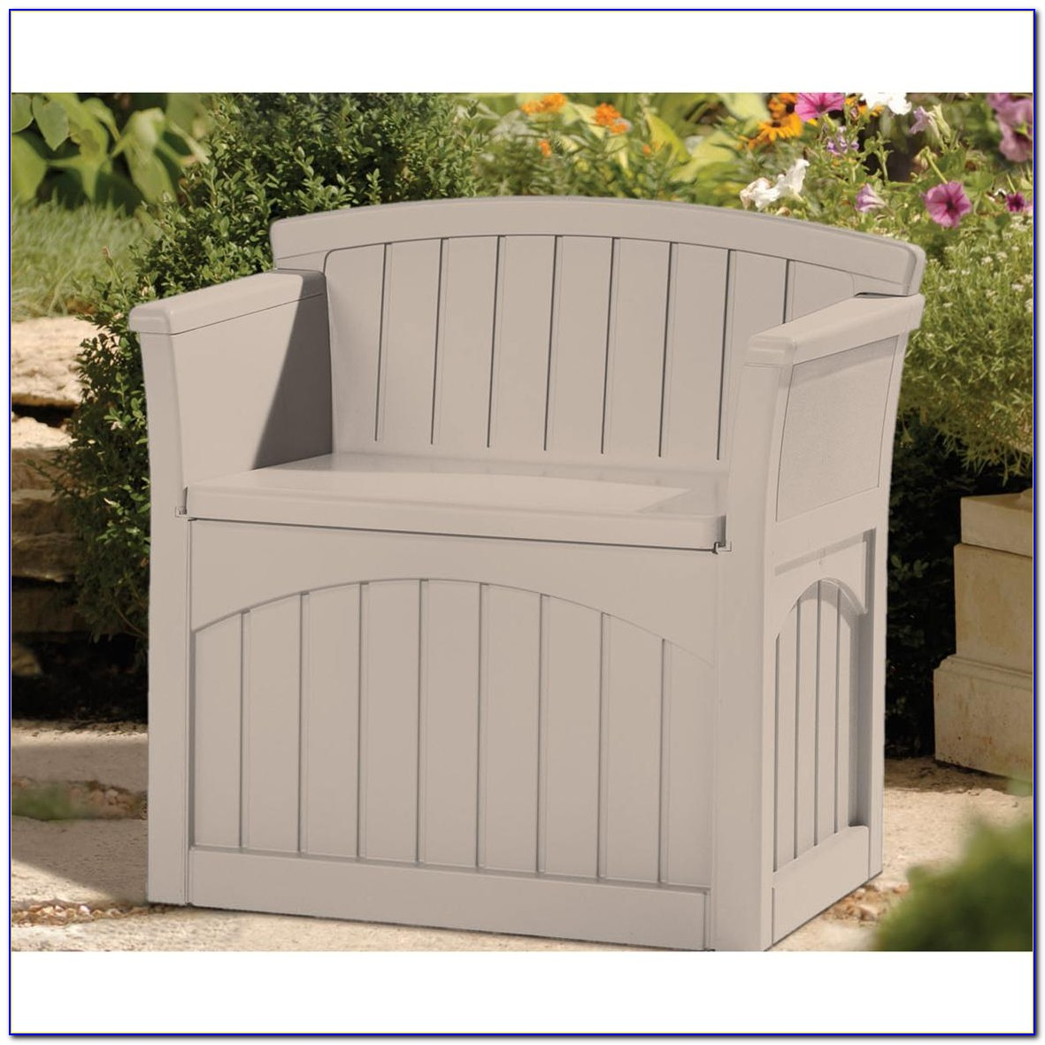 Suncast Patio Storage Bench 44 Gallon