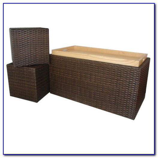 Suncast Wicker Bench With Storage