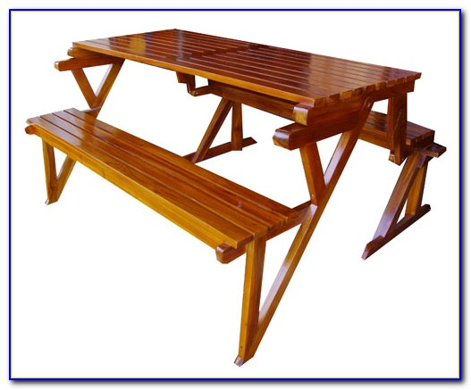 Teak Picnic Table With Benches