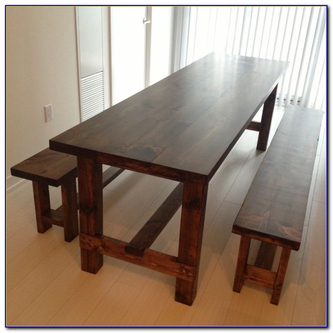Thin Dining Table With Bench