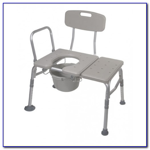 Transfer Bench With Commode Opening