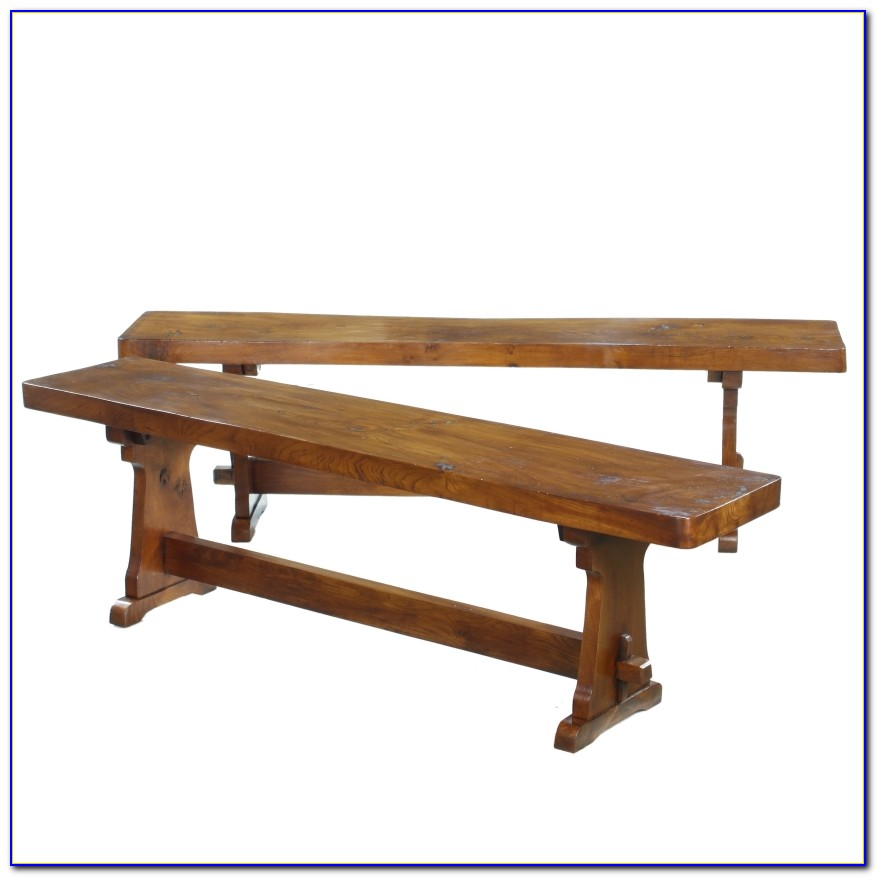 Trestle Dining Table With Bench