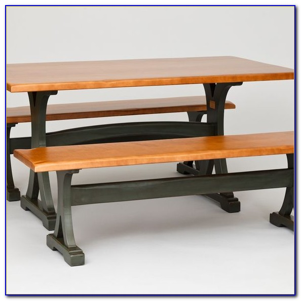 Trestle Table With 2 Benches