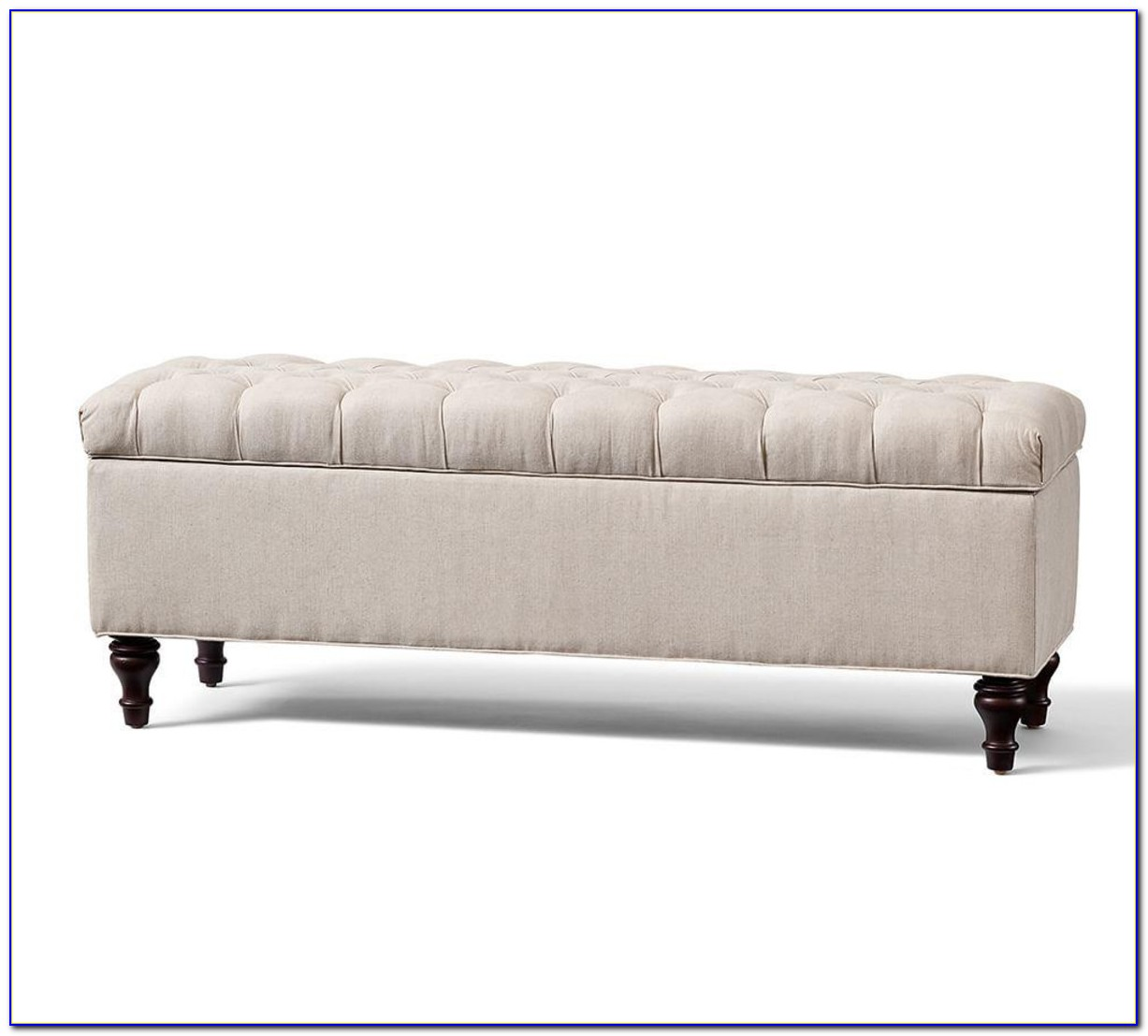 Tufted Bench With Storage