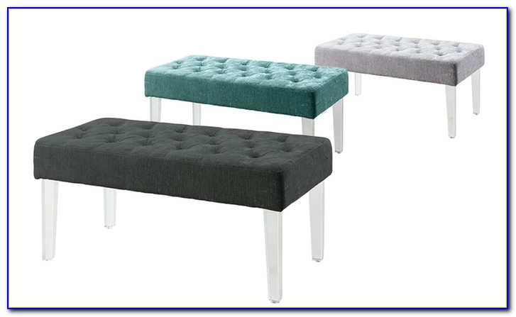 Upholstered Bench With Lucite Legs