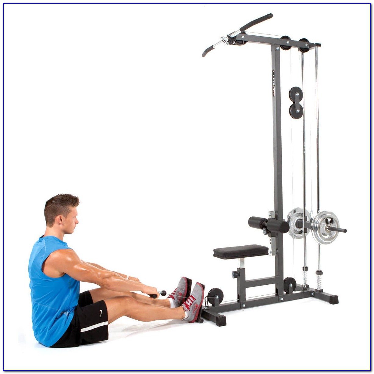 Weider Weight Bench With Lat Tower